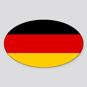 Flag of Germany Sticker (Oval)