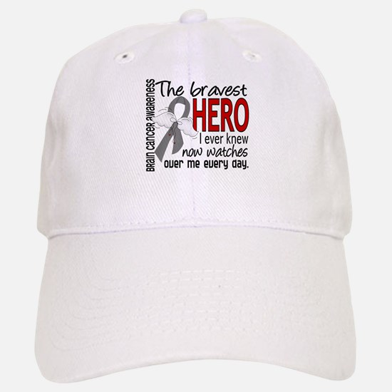 Bravest Hero I Knew Brain Cancer Baseball Baseball Cap