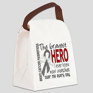 Bravest Hero I Knew Brain Cancer Canvas Lunch Bag