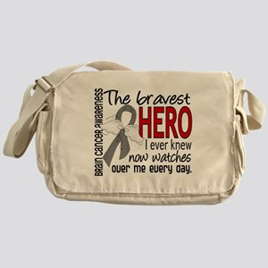 Bravest Hero I Knew Brain Cancer Messenger Bag