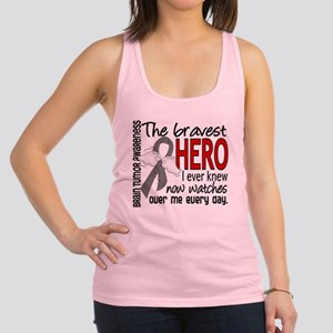 Bravest Hero I Knew Brain Tumor Racerback Tank Top