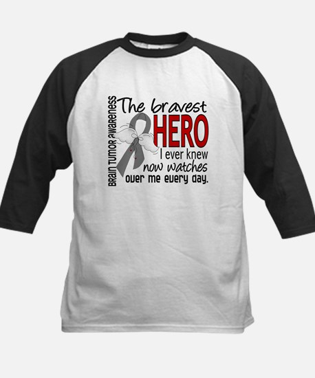 Bravest Hero I Knew Brain Tumor Kids Baseball Jers