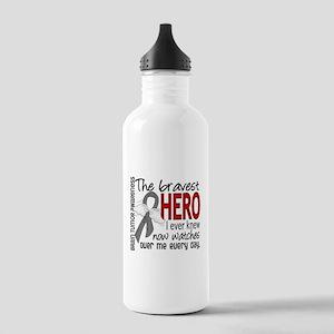 Bravest Hero I Knew Brain Tumor Stainless Water Bo