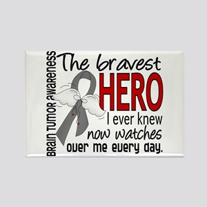 Bravest Hero I Knew Brain Tumor Rectangle Magnet