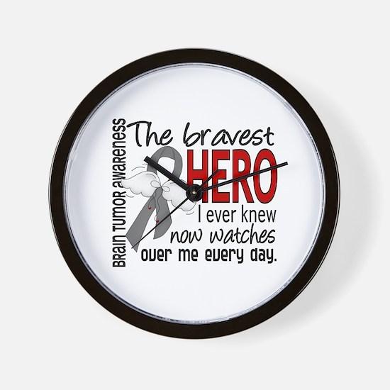 Bravest Hero I Knew Brain Tumor Wall Clock