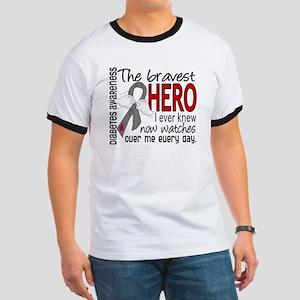 Bravest Hero I Knew Diabetes Ringer T