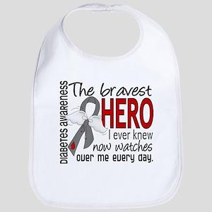 Bravest Hero I Knew Diabetes Bib