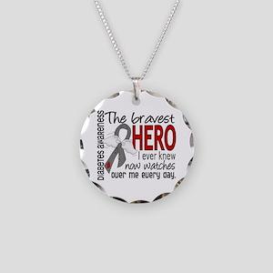 Bravest Hero I Knew Diabetes Necklace Circle Charm