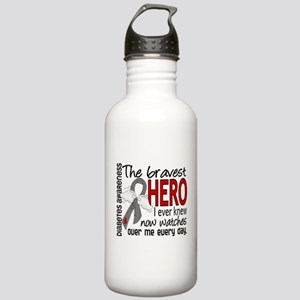 Bravest Hero I Knew Diabetes Stainless Water Bottl