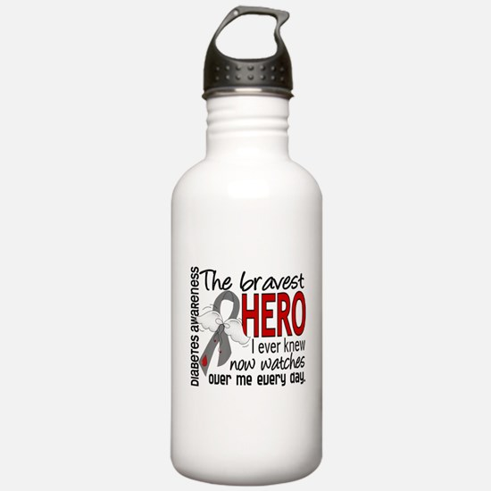 Bravest Hero I Knew Diabetes Water Bottle