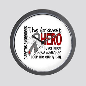 Bravest Hero I Knew Diabetes Wall Clock
