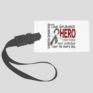 Bravest Hero I Knew Diabetes Large Luggage Tag