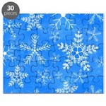 Blue and White Snowflake Pattern Puzzle