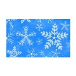 Blue and White Snowflake Pattern 35x21 Wall Decal