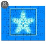 Blue and White Star Snowflake Puzzle