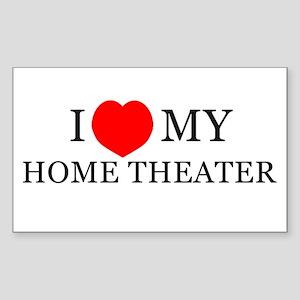 3X5 Home Theater Love Bumper Sticker
