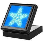 Blue and White Star Snowflake Keepsake Box