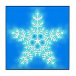 Blue and White Star Snowflake Tile Coaster