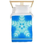 Blue and White Star Snowflake Twin Duvet