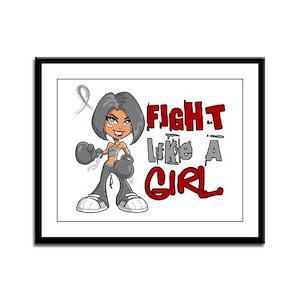 Fight Like a Girl 42.8 Diabetes Framed Panel Print