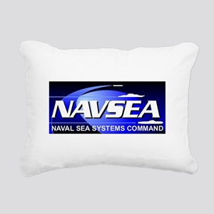 NAVSEA logo Rectangular Canvas Pillow