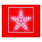 Red and White Star Snowflake King Duvet