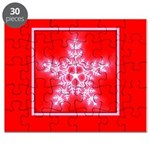 Red and White Star Snowflake Puzzle