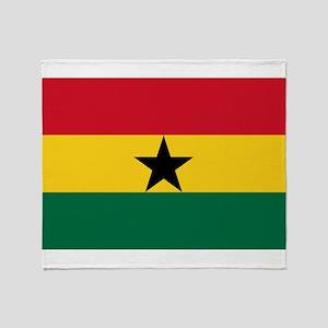 Ghana - National Flag - Current Throw Blanket