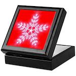 Red and White Star Snowflake Keepsake Box