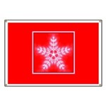 Red and White Star Snowflake Banner