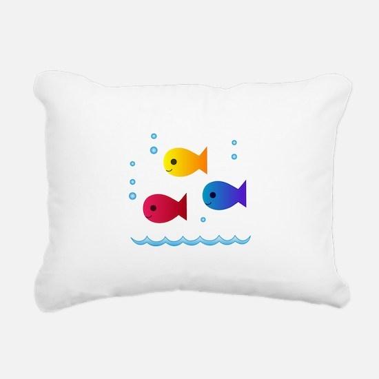 school of fish Rectangular Canvas Pillow