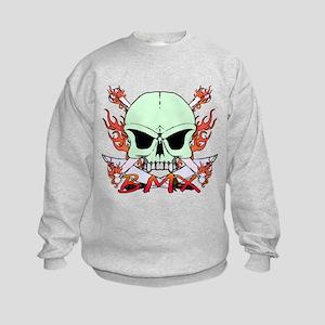 BMX skull 3 Kids Sweatshirt