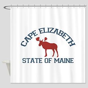 Cape Elizabeth ME - Moose Design. Shower Curtain