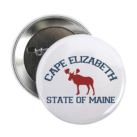 "Cape Elizabeth ME - Moose Design. 2.25"" Butto"