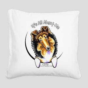 Collie IAAM Square Canvas Pillow