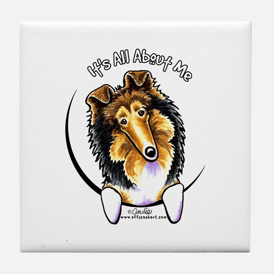 Collie IAAM Tile Coaster