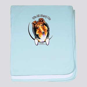 Collie IAAM Logo baby blanket