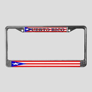 Puerto Rico Blank Flag License Plate Frame