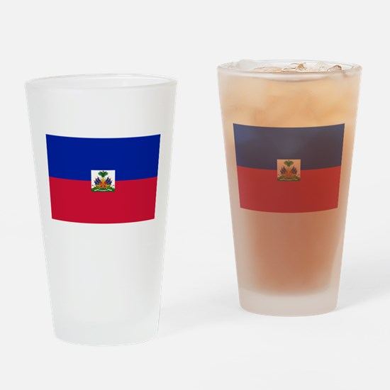 Haiti - National Flag - Current Drinking Glass