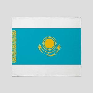 Kazakhstan - National Flag - Current Throw Blanket