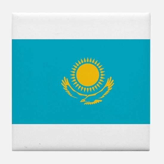 Kazakhstan - National Flag - Current Tile Coaster