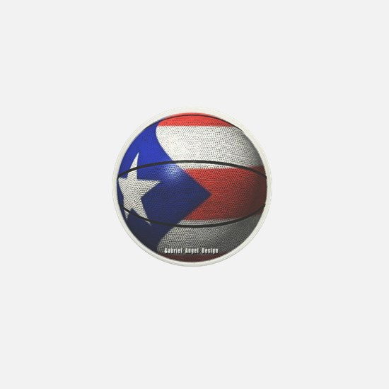 Puerto Rican Basketball Mini Button