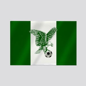 Nigerian Football Flag Rectangle Magnet