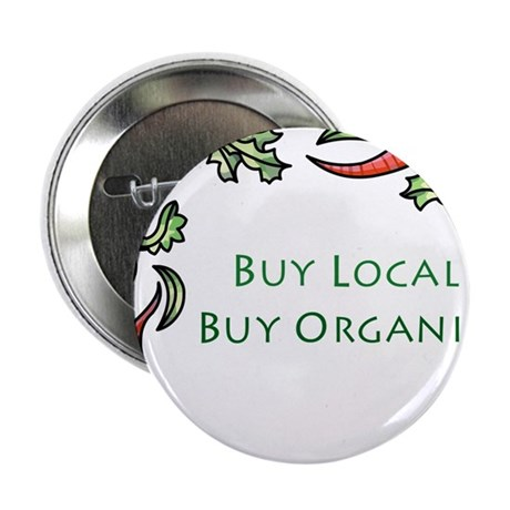 "Buy Local Veggie Border 2.25"" Button"