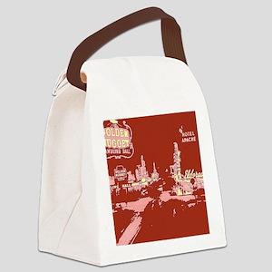 Downtown Las Vegas Pop Art Canvas Lunch Bag