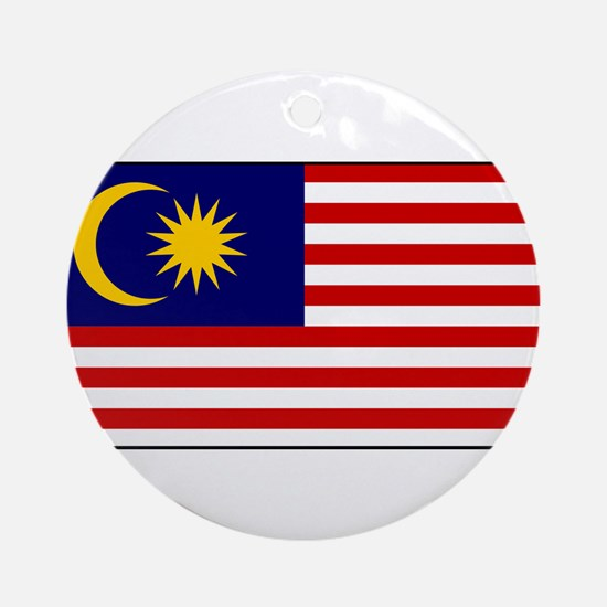 Malaysia - National Flag - Current Round Ornament