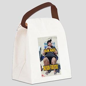 Sun Nazi no sun for you Canvas Lunch Bag