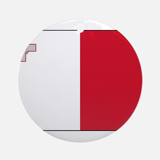 Malta - National Flag - Current Round Ornament