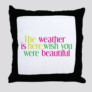 The Weather Throw Pillow