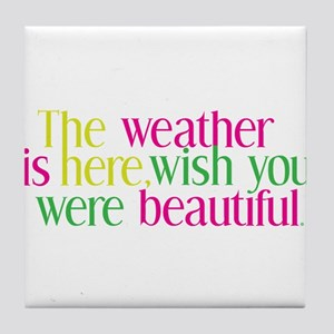 The Weather Tile Coaster